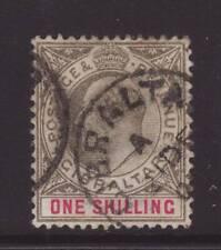 1903 Gibraltar 1/- Wmk Crown CA Good/Fine Used SG51