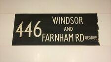 "Windsor Bus Blind 1973 33""- 446 Windsor & Farnham Road George"