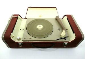 Vintage Philips AG 4156 Portable Turntable Record Player Parts Repair H489