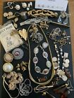 Job Lot Of Vintage Mixed Costume Jewellery Spares And Repairs