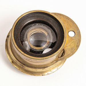 1800's G.G. Brass Lens 6-1/2 x 8-1/2 Wide Angle Rotating Aperture Wheel