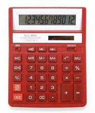 Citizen SDC888XRD Solar & la energía de la batería 12 dígitos calculadora-Rojo