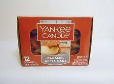 Yankee Candle CARAMEL APPLE CAKE Box of 12 Tea Light Candles