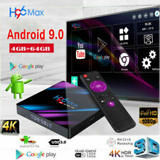 2020 H96 MAX RK3318 Android 9.0 4G+64GB Wifi Quad Core 4K Smart BT 4.0 UK SELLER
