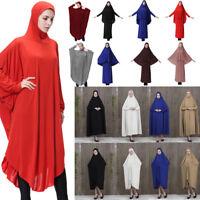 Women Muslim Cocktail Long Sleeve Maxi Dress Kaftan Abaya Jilbab Islam Party Lot