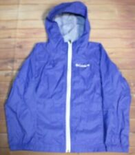 Columbia Switchback Lightweight Full Zip Hooded Jacket Girls Youth XS 6 Blue