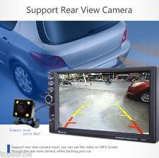 "Bluetooth 7"" Autoradio Voiture 2 DIN Mirror Link Car GPS MP5 Player FM + Caméra"