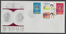 Seychelles Sc 380-387 on 2 matching FDCs. 1977 QEII Silver Jubilee cplt