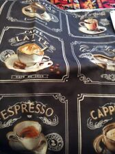 Cappuccnino Espresso Words Window Valance Handcrafted By Me Free Shipping