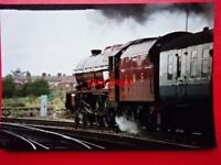 PHOTO  LMS LOCO PRINCESS ROYAL CLASS 6201 PRINCESS ELIZABETH AT CHESTER 3/9/89