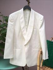Moss Bros Cream/Off-white Wool Mix Tuxedo/Dinner Jacket, 38 Short, Pristine