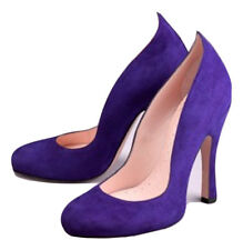 AGENT PROVOCATEUR Purple Suede Leather Vyvianne Shoes Size UK 4 BNIB