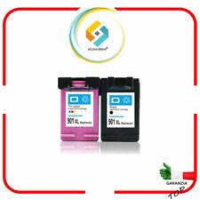 KIT 2 CARTUCCE RIGENERATE HP 901XL OfficeJet J4580 J4600 J4624 J4660 J4680 J4680