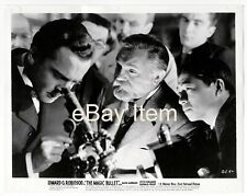 """THE MAGIC BULLET"" (1940) *EDWARD G. ROBINSON MOVIE* Press Photo *LAB MICROSCOPE"