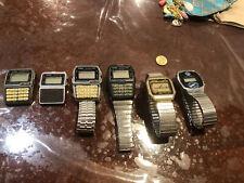 Lot 5 Vintage Casio DBC-610 & 150 Data Bank Digital Calculator Wristwatch 676