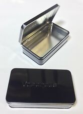 TEN PACK!!!!!    Metal Tin Black Storage Box Case Organizer Durable Containers