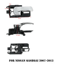 1 pair Plastic Black Door Handle left right For Nissan Qashqai 2007 - 2013