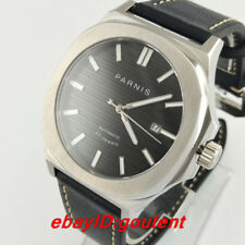 43mm Parnis Black Dial Sapphire Steel Case 21 jewels Miyota Automatic Mens Watch
