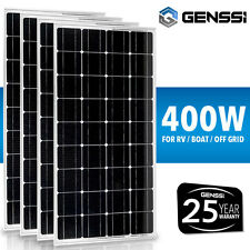 400W 4 Pack of 100W 12V Solar Panel Mono 100 Watts 12 Volts RV Boat Off Grid 12V