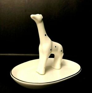 La Casa Bella Trinket Dish White Giraffe With Gold Dots