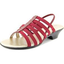 Sandalias y chanclas de mujer de tacón medio (2,5-7,5 cm) de color principal rojo talla 38