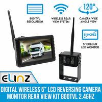 """Elinz Wireless Digital 5""""LCD Reversing Camera Monitor Kit 800TVL Night Vision"""