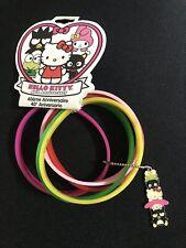 Hello Kitty 40th Anniversary Friends Rubber Bracelet Keroppi Chococat Sanrio NWT