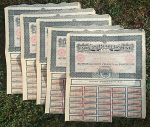 Wholesale 10 Pedrazinni Mexico Senora Gold Silver Mine 1926 w 28 Coupons Stamped