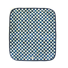 Mackenzie Childs ROYAL CHECK Blue PET BLANKET -SMALL- 27x31 Dog Bed NEW m20-jl