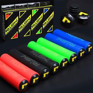 1Pair Silicone Bike Bicycle Grips Sponge Handlebar Soft Ultralight GripsHEN