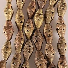 9424/F Collier composé de 20 perles de laiton Akan. cire perdue