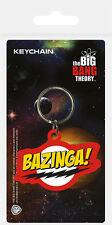 BIG BANG THEORY BAZINGA! LOGO RUBBER KEYRING NEW OFFICIAL MERCHANDISE