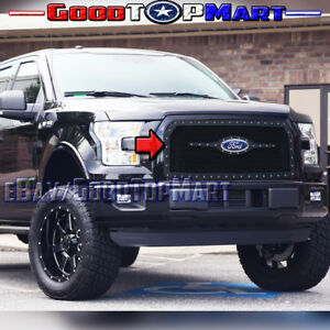 For FORD F150 2015 2016 2017 Black Mesh STEEL Grille Rivets Logo REPLACEMENT 1PC