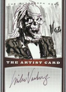 TALES FROM THE CRYPT LEGENDARY ARTIST MIKE VOSBURG SIGNED & SKETCH ARTIST CARD
