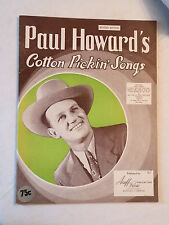 1945, Paul Howard's Cotton Pickin' Songs, Songbook, Acuff-Rose Publications, VG+