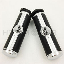 "Skull 1"" Hand grips For Harley Davidson 1996-later VRSC XL XR Dyna Softail"