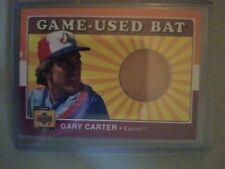 2001 Upper Deck Gary Carter Game-Used Bat Card