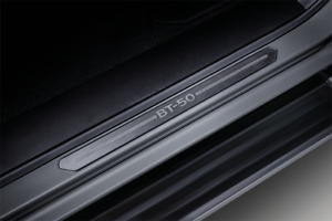 MAZDA New BT-50 GENUINE 4 drs DBL Scuff Plates,Front & Rear door SILL TRIM mark