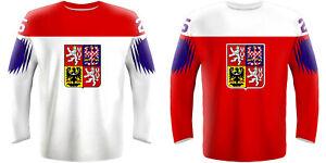 NEW 2021 Czech Republic Hockey Jersey PASTRNAK HERTL KREJCI VORACEK JAGR NHL