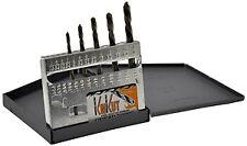 Knkut 5KK6 5 Piece Left Hand Jobber Length Drill Bit Set
