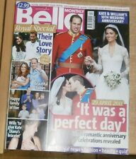 Bella Monthly magazine Royal Special Apr 2021 Kate & William's 10th Anniversary