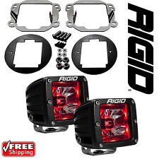 Rigid Radiance LED Fog Light Kit Red Backlight for 07-17 Jeep Wrangler JK 20202