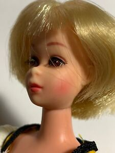 1970 FRANCIE Blonde- Hair Happenin's Doll in #3366 Pretty Frilly Dress & Shoes