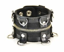D Ring zipper Gothic Bracelet Punk Rockers Bikers Thrash Metal Glam Rockabilly