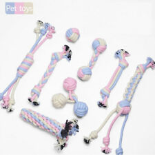 Dog Chew Interactive Dog Cat Toy Cotton Braided Rope Knot Tug Play Chew Toys Fun
