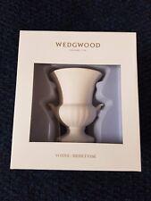 NEW BOXED Wedgwood White Medici Vase Ceramic Votive Candle Holder