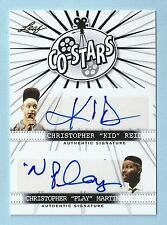 "CHRISTOPHER REID CHRISTOPHER MARTIN 2014 LEAF CO-STARS AUTOGRAPH ""KID N PLAY"""