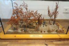 """Diorama 1:35 WWII Ardennen Auffangstellung Malmedy 1944 """" Glas Vitrine """""""