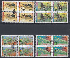 Bulgarien 3989 - 3999 und 4017 - 4017 viererblock gestempelt Inseken