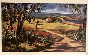 Steve Barton PATHWAY HOME Hand Signed Limited Ed Lithograph Print LANDSCAPE Coa